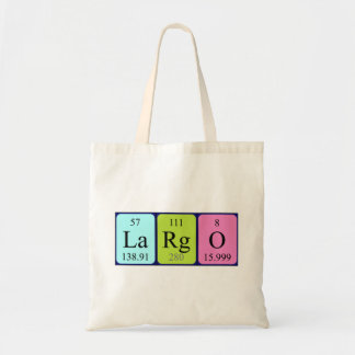 Largo periodic table name tote bag