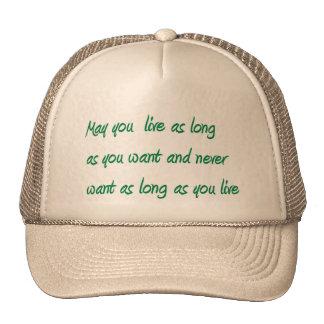 Largo vivo gorras de camionero