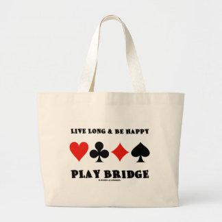Largo vivo y sea puente feliz del juego cuatro ju bolsas de mano