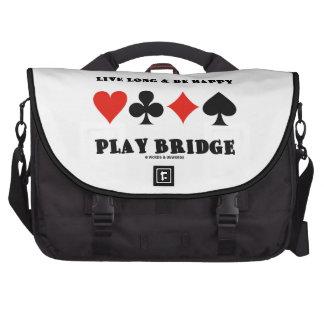 Largo vivo y sea puente feliz del juego cuatro ju bolsas de portátil