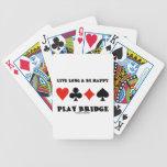 Largo vivo y sea puente feliz del juego (cuatro ju cartas de juego