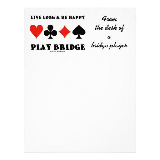 Largo vivo y sea puente feliz del juego (cuatro ju plantilla de membrete