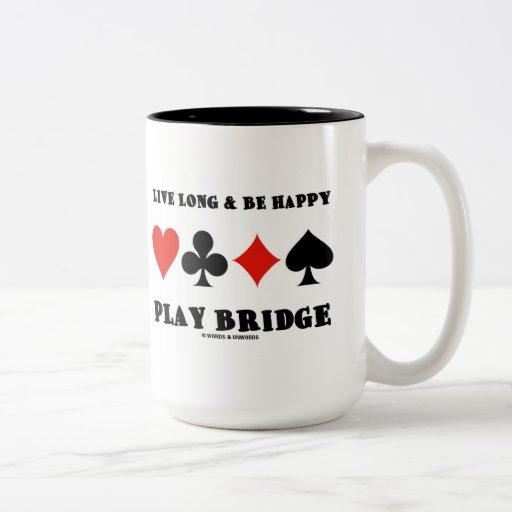 Largo vivo y sea puente feliz del juego (cuatro ju taza