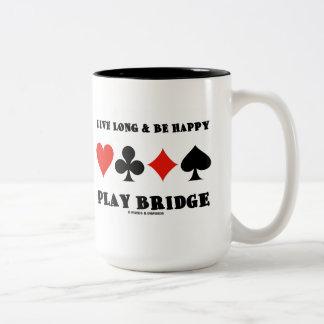 Largo vivo y sea puente feliz del juego (cuatro taza de dos tonos