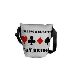 Largo vivo y sea puente feliz del juego los juego bolsa messenger