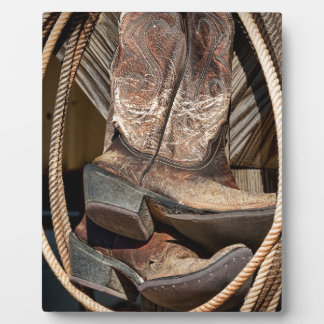 Lariats and Cowboy Cowgirl Boots Photo Plaques