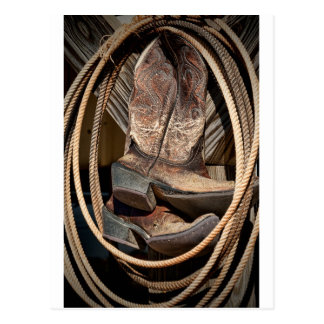 Lariats and Cowboy Cowgirl Boots Postcard