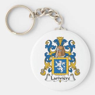 Lariviere Family Crest Basic Round Button Keychain