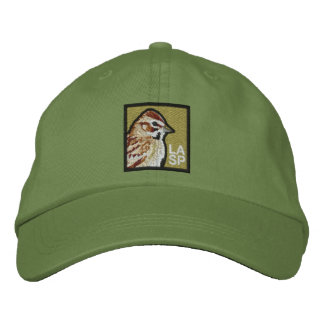 Lark Sparrow (non-distressed) Embroidered Baseball Caps