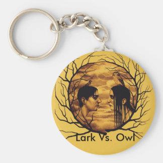 Lark Vs. Owl Basic Round Button Keychain