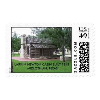 LARKIN NEWTON CABIN BUILT 1848MIDLOTH... POSTAGE
