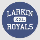 Larkin - Royals - High School - Elgin Illinois Round Stickers