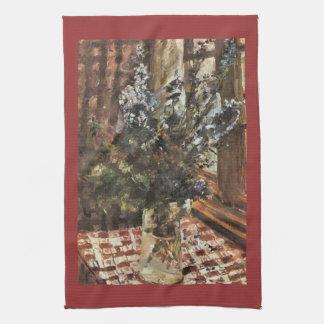 Larkspur by Lovis Corinth Kitchen Towel