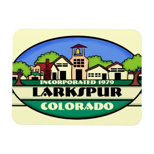 Larkspur Colorado small town souvenir magnet