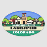 Larkspur Colorado small town souvenir stickers
