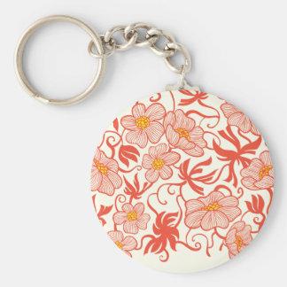 Larkspur Floral Pattern Key Chains