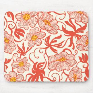Larkspur Floral Pattern Mouse Pad