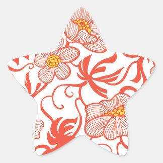 Larkspur Floral Pattern Star Sticker