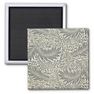 Larkspur, wallpaper design, 1872 2 inch square magnet