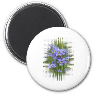 Larkspurs 2 Inch Round Magnet