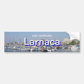 Larnaca, Cyprus visit certificate Bumper Sticker