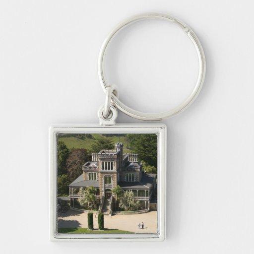 Larnach Castle, Dunedin, New Zealand - aerial Key Chain