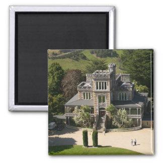 Larnach Castle, Dunedin, New Zealand - aerial Fridge Magnet