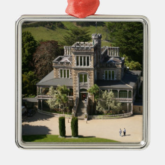 Larnach Castle, Dunedin, New Zealand - aerial Square Metal Christmas Ornament
