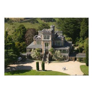 Larnach Castle, Dunedin, New Zealand - aerial Photo Print