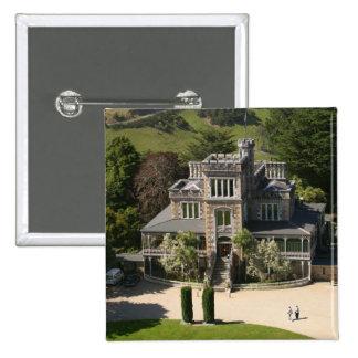 Larnach Castle, Dunedin, New Zealand - aerial Pinback Button
