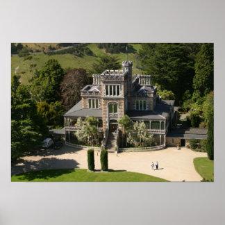 Larnach Castle, Dunedin, New Zealand - aerial Print