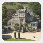 Larnach Castle, Dunedin, New Zealand - aerial Square Sticker