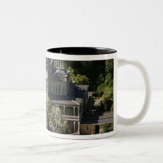 Larnach Castle, Dunedin, New Zealand - aerial Two-Tone Coffee Mug