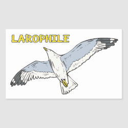 Rectangle Sticker with Larophile design