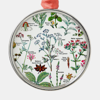 Larousse Digestive Plants Painting Metal Ornament