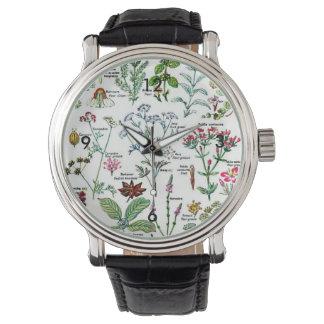 Larousse Digestive Plants Painting Wristwatch