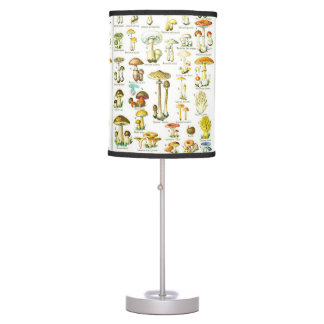 Larousse Mushroom Fungus Nature Painting Table Lamp
