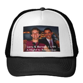 Larry & Barack A Night to Remember Trucker Hat