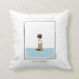 LARRY cartoon by Ellen Elliott Throw Pillow