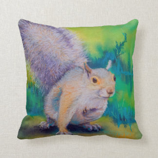 Larry, Curly and Moe Squirrels Throw Pillow