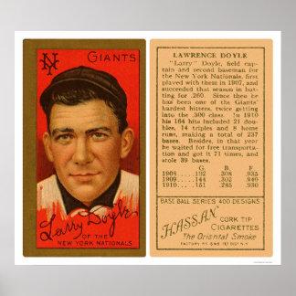 Larry Doyle Giants Baseball 1911 Poster