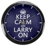 Larry encendido reloj aqua clock