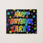 "[ Thumbnail: ""Larry"" First Name, Fun ""Happy Birthday"" Jigsaw Puzzle ]"