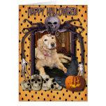 Larry - golden retriever - Photo-2 Halloween Felicitacion