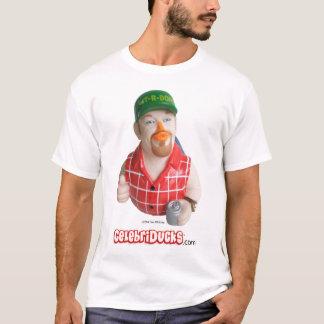 Larry la camiseta de goma del pato del individuo