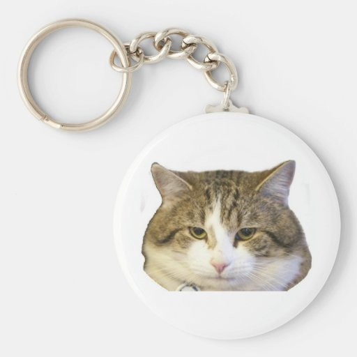 Larry la cara del gato del Downing Street Llavero Redondo Tipo Pin