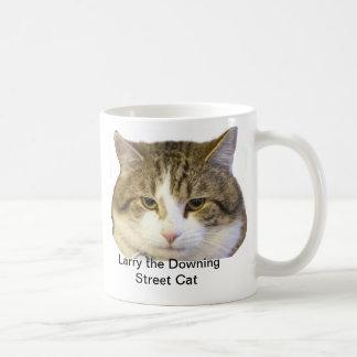 Larry la cara del gato del Downing Street - ratas  Tazas De Café