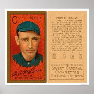 Larry McLean Reds Baseball 1911 Poster