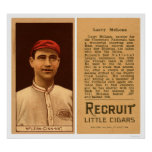 Larry McLean Reds Baseball 1912 Poster