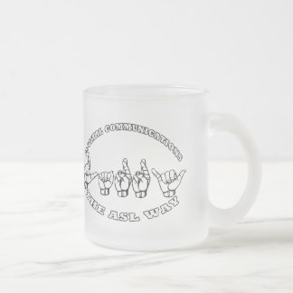 LARRY NAME ASL  FINGERSPELLED DIGITAL COMMUNICATIO FROSTED GLASS COFFEE MUG